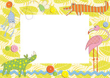 Baby frame or card. Vector illustration Royalty Free Stock Images
