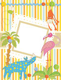 Baby frame or card. Vector illustration Royalty Free Stock Photography
