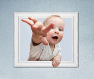 Baby in the frame Royalty Free Stock Image