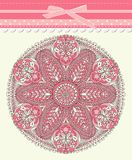 Baby frame vintage with lace stock illustration