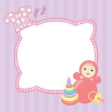 Baby frame Royalty Free Stock Photos
