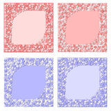 Baby frames. Vector drawing of pink and blue frames for boy and girl babies Royalty Free Stock Photo