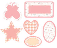 Baby frames pink set. For the girl Royalty Free Stock Image