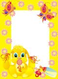 Baby framework with bunny, vector illustration Stock Images