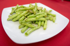 Baby french bean. Tasty baby french bean cooked in chinese style Royalty Free Stock Images