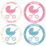 Baby Friendly Stickers Royalty Free Stock Image