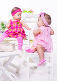 Baby friends Royalty Free Stock Image