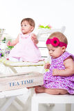 Baby friends Stock Photos