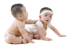 Baby friendship Royalty Free Stock Images