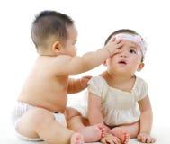 Baby friendship Stock Photo