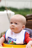 A baby frowning Royalty Free Stock Photo