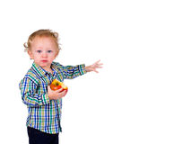 Baby with Fruit Stock Photography