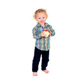 Baby with Fruit Royalty Free Stock Image