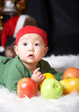 Baby and fruits Royalty Free Stock Photography