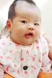 Baby Funny Face. A little Asian baby girl is making a surprised face Stock Photography