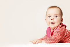 Baby. Funny Small Baby on Background (6 months) Stock Image
