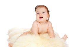 Baby on fur Royalty Free Stock Photos