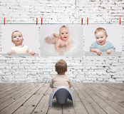 Baby in gallery Stock Photo