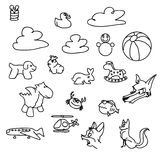 Baby game Doodles Sketched Vector Art Stock Photography
