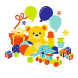 Baby-Gang-und Spielwaren-Geschenk-Fessel stock abbildung