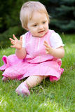 Baby in garden Stock Photography