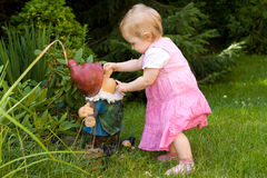 Baby in garden Stock Images