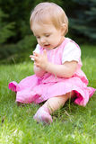 Baby in garden Royalty Free Stock Photos