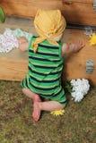 Baby in Garden Stock Photography