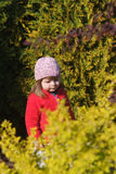 Baby in the garden Royalty Free Stock Photo