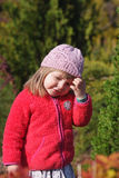 Baby in the garden Stock Photo