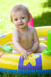 baby garden happy Стоковое фото RF