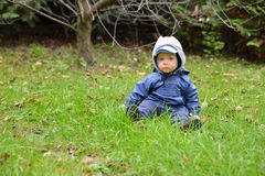 Baby in the garden. Stock Photography