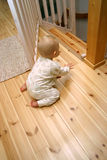 Baby gate open Stock Photo