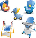 Baby Gear Icon Set Stock Photo