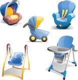 Baby Gear Icon Set Stock Photo