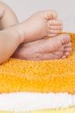 Baby geboren voeten Royalty-vrije Stock Afbeeldingen