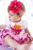 Baby-Gegähne/Knurren lizenzfreies stockbild