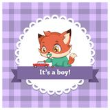 Baby gender reveal for a boy. Baby gender reveal for a little boy royalty free illustration