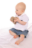 Baby Geologist two Royalty Free Stock Images