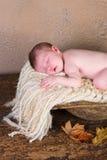 Baby in geulkom royalty-vrije stock afbeeldingen