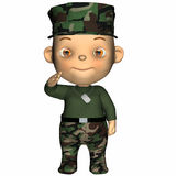Baby - GI. Cute baby in a military camouflage BDU outfit Stock Image