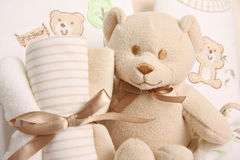 Baby gift basket Royalty Free Stock Image
