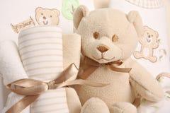 Baby gift basket Royalty Free Stock Image