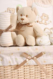 Baby gift basket Stock Photo