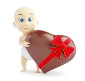 Baby gift chocolate heart Royalty Free Stock Images