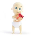 Baby gift egg 3d Illustrations Stock Images
