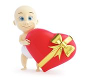 Baby gift heart Stock Photo
