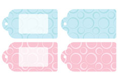 Baby gift tags Stock Photos