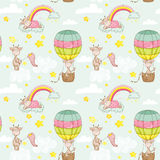 Baby Giraffe Background. Seamless Pattern Royalty Free Stock Image