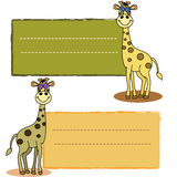 Baby giraffe label Royalty Free Stock Photography